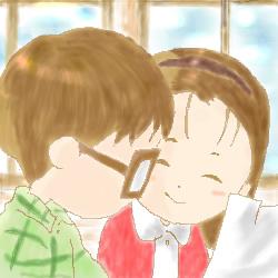 ホントはハルちゃん描きたかったんですが、お手本にする資料がなくて、たまたまあったギブリーズで。 ギブリーズも可愛くて、そして笑いました★